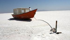 Lake Urmia boat