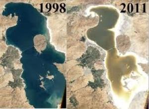 Lake Urmia shrink